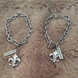 Jewelry - Fleur de Lis Charm Friendship Bracelet Set